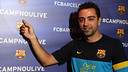 Xavi and #CampNouLive. PHOTO: MIGUEL RUIZ-FCB.