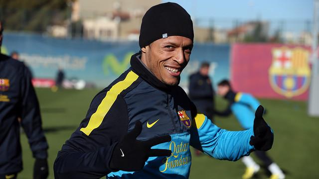 Adriano, este viernes / FOTO: MIGUEL RUIZ - FCB