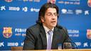 Freixa, durant la roda de premsa d'aquest dilluns / FOTO: GERMAN PARGA-FCB