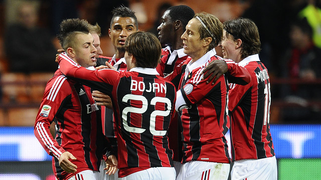 Bojan with the AC Milan PHOTO: italpress.com