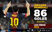 record 86 goles
