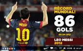 record 86 gols