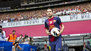 Jordi Alba on the day of his presentation as a Barça player / PHOTO: FCB ARCHIVE