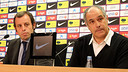 Rosell and Zubizarreta. / PHOTO: MIGUEL RUIZ-FCB