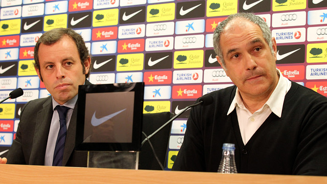 Rosell and Zubizarreta / PHOTO: MIGUEL RUIZ-FCB