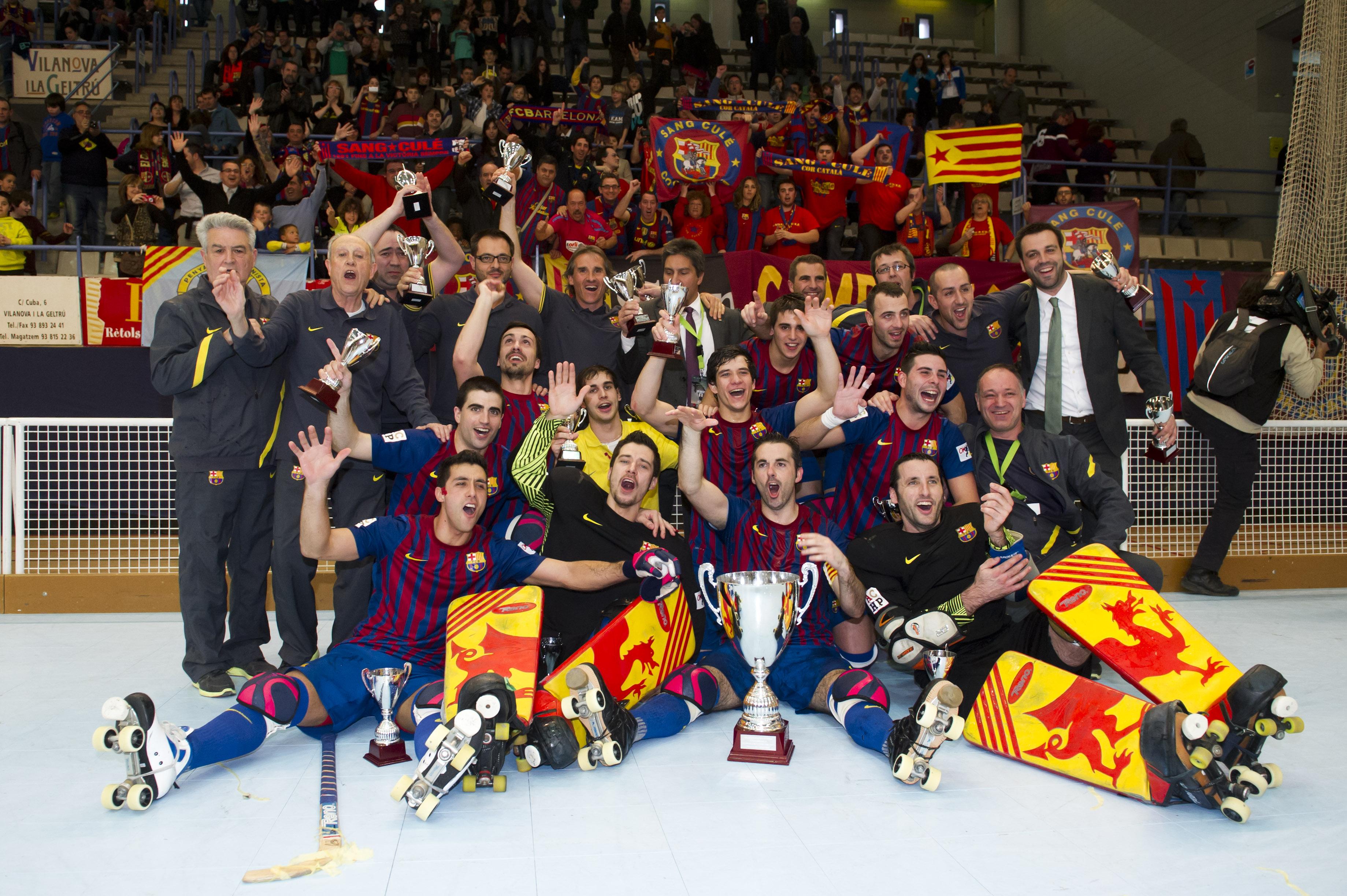 L'equip celebra la Copa del Rei 2010