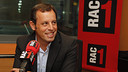 Sandro Rosell, à RAC 1 / PHOTO: PEP MORATA - MD