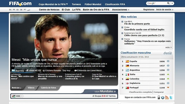 FIFA.com and Leo Messi's interview