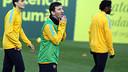 Messi, durant l'entrenament d'aquest dissabte / FOTO: MIGUEL RUIZ-FCB