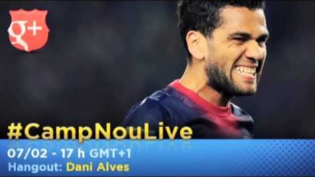 Dani Alves, latest player to star on #CampNouLive 