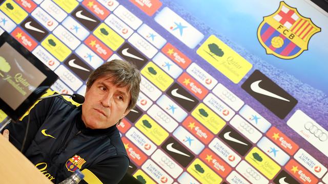 Jordi Roura in a press conference | PHOTO: MIGUEL RUIZ - FCB