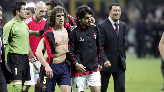 Puyol and Gattuso in 2005/06 / FOTO: MIGUEL RUIZ - FCB