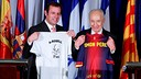 Rosell and Peres / PHOTO DANIEL BARON-FCB.