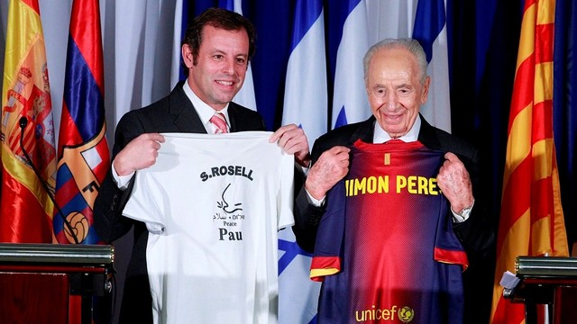 Rosell and Peres / PHOTO DANIEL BARON-FCB.