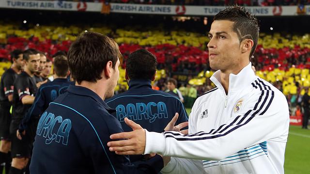 Messi and Cristiano Ronaldo before a Clasico match  MIGUEL RUIZ-FCB
