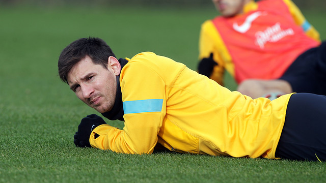 Messi, out of today's training session | FOTO: MIGUEL RUIZ - FCB