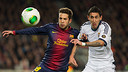 Alba and Di María in the cup clasico / FOTO: GERMÁN PARGA-FCB