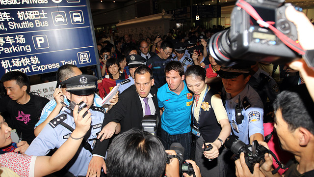 Messi in Beijing during the 2010 Asia Tour / Photo: Archive - FCB