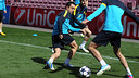Xavi, at Camp Nou / PHOTO: MIGUEL RUIZ - FCB