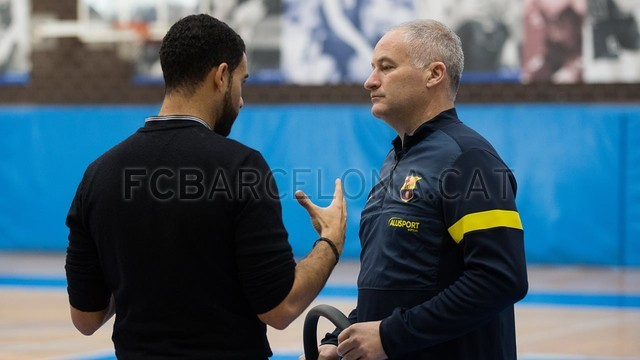Iniesta plays futsal with Barça Alusport. FOTO: GERMÁN PARGA - FCB