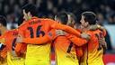 Celebrations for Messi's goal in Paris. PHOTO: MIGUEL RUIZ-FCB.