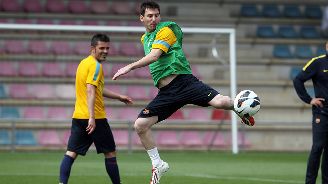 Leo Messi started training with the squad on Friday / PHOTO: MIGUEL RUIZ – FCB