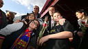 Sandro Rosell, au Camp Nou / Photo Miguel Ruiz