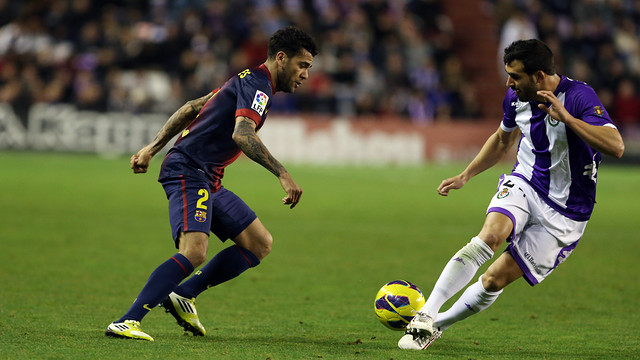 Valladolid v Barça earlier this season. PHOTO: MIGUEL RUIZ-FCB.