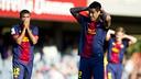 El Barça B ha deixat escapar dos punts en el tram final / FOTO: ÁLEX CAPARRÓS-FCB