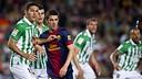 Villa against Betis / Photo Miguel Ruiz