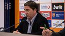 Xavi Pascual, a la roda de premsa. FOTO: GERMÁN PARGA-FCB.