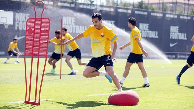 Pedro during the training session / Photo Miguel Ruiz