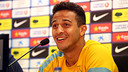 Thiago, during the press conference. PHOTO: MIGUEL RUIZ-FCB.