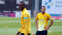 Abidal et Mascherano, vendredi / PHOTO: MIGUEL RUIZ - FCB