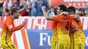 Eufòria al Calderón. FOTO: MIGUEL RUIZ-FCB.
