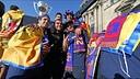 FC Barcelona - La rua dels campions de Lliga, des de dins