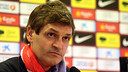 Tito Vilanova, pendant la confrence de presse. PHOTO: MIGUEL RUIZ - FCB