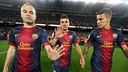 Barça claim the 2012/13 Liga trophy