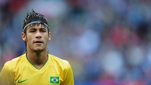 Neymar in the Brazil strip