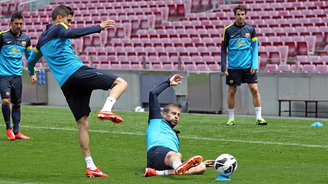 Piqué and Bartra / PHOTO: MIGUEL RUIZ - FCB