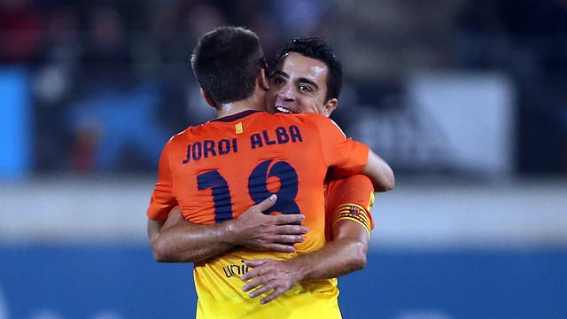 Mallorca - Barça Xavi Jordi Alba / PHOTO: MIGUEL RUIZ - FCB
