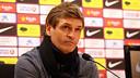 Tito Vilanova, en conférence de presse / PHOTO: MIGUEL RUIZ-FCB