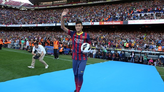 Neymar at Camp Nou PHOTO: MIGUEL RUIZ