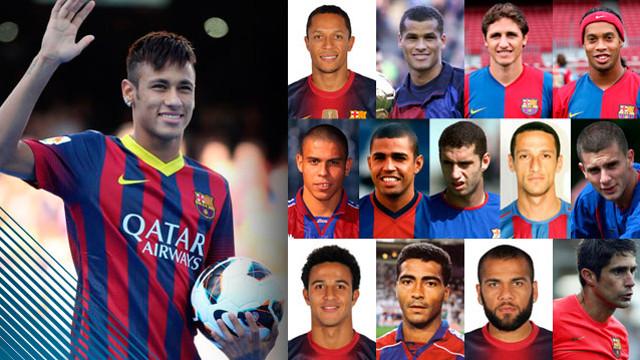 Neymar, Barça's 23rd Brazilian