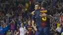 Lozano, amb Jordi Torras, en el segon partit davant el Caja Segovia / FOTO: VÍCTOR SALGADO - FCB