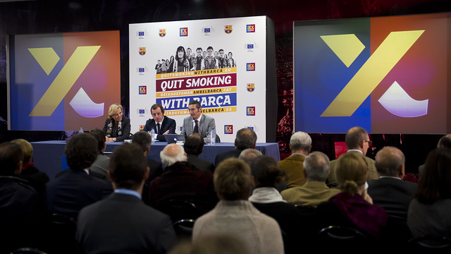 Presentació de la Campanya 'Quit Smoking with Barça'. FOTO: ARXIU FCB.