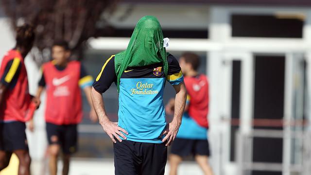 Messi, en un entrenament de la temporada 2012/13 / FOTO: MIGUEL RUIZ - FCB