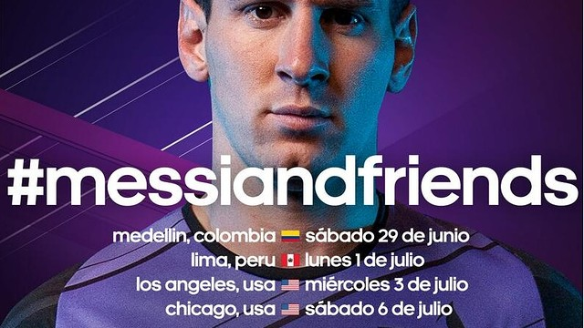 Messi and friends playing for a good cause