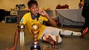 Neymar, with trophies.  PHOTO: FIFA.COM