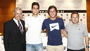 Marc Bartra and Sergi Roberto, during the presentation. PHOTO: NIKECAMP/ADRIÀ FONTANET